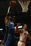 Orlando Magic v Chicago Bulls: Dwight Howard and Joakim Noah Photographic Print by Jonathan Daniel