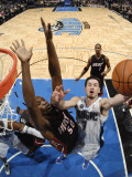 Miami Heat v Orlando Magic: Joel Anthony and J.J. Redick Photographic Print by Fernando Medina