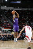 Sacramento Kings v Houston Rockets: Luther Head and Kevin Martin Photographic Print by Bill Baptist