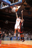 Miami Heat v New York Knicks: Wilson Chandler and Joel Anthony Photographic Print by Nathaniel S. Butler