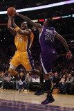 Sacramento Kings v Los Angeles Lakers: Kobe Bryant and Donte Greene Photographic Print by Jeff Gross