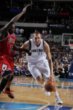 Chicago Bulls v Dallas Mavericks: Dirk Nowitzki and Luol Deng Photographic Print by Glenn James