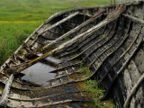 An Old Boat Lies Rotting Near the Harbor of Valtos Photographic Print by Jim Richardson