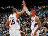 Indiana Pacers v Atlanta Hawks: Josh Smith and Al Horford Photographic Print by Kevin Cox