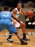 Tulsa 66ers v Sioux Falls Skyforce: Chris McCray and Elijah Millsap Photographic Print by Dave Eggen