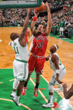 Chicago Bulls v Boston Celtics: Joakim Noah and Glen Davis Photographic Print by Brian Babineau