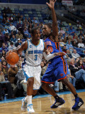New York Knicks v New Orleans Hornets: Chris Paul and Toney Douglas Photographic Print by Layne Murdoch