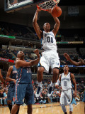 Charlotte Bobcats v Memphis Grizzlies: Darrell Arthur and Boris Diaw Photographic Print by Joe Murphy