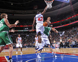 Boston Celtics v Philadelphia 76ers: Ray Allen, Semih Erden and Elton Brand Photographic Print by David Dow