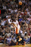Charlotte Bobcats v Miami Heat: Dwyane Wade and Gerald Wallace Photographic Print by Mike Ehrmann