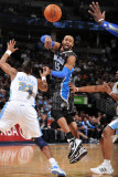 Orlando Magic v Denver Nuggets: Vince Carter and Shelden Williams Photographic Print by Garrett Ellwood