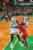 Chicago Bulls v Boston Celtics: Kevin Garnett and Luol Deng Photographic Print by Brian Babineau