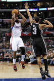 San Antonio Spurs v Los Angeles Clippers: Baron Davis and George Hill Photographic Print by Harry How