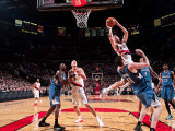 Minnesota Timberwolves v Portland Trail Blazers: PLAYER 1 and PLAYER 2 Photographic Print by Sam Forencich