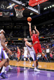 Houston Rockets v Sacramento Kings: Luis Scola and Beno Udrih Photographic Print by Rocky Widner