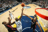 Miami Heat v Memphis Grizzlies: Zach Randolph, Mario Chalmers and Juwan Howard Photographic Print by Joe Murphy