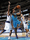 New Orleans Hornets v Dallas Mavericks: David West and Brendan Haywood Photographic Print by Layne Murdoch