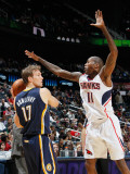 Indiana Pacers v Atlanta Hawks: Jamal Crawford and Mike Dunleavy Photographic Print by Kevin Cox
