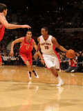Houston Rockets v Toronto Raptors: DeMar DeRozan and Kevin Martin Photographic Print by Ron Turenne