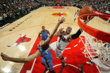 Oklahoma City Thunder v Chicago Bulls: Thabo Sefolosha, Nenad Krstic and Carlos Boozer Photographic Print by Joe Murphy