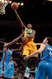 Oklahoma City Thunder v New Orleans Hornets: Quincy Pondexter, James Harden and Nick Collison Photographic Print by Chris 