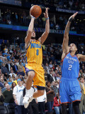 Oklahoma City Thunder v New Orleans Hornets: Marco Belinelli and Thabo Sefolosha Photographic Print by Layne Murdoch