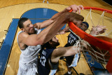 Memphis Grizzlies v Washington Wizards: JaVale McGee and Marc Gasol Photographic Print by Ned Dishman