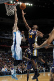 Utah Jazz v New Orleans Hornets: C.J. Miles and Jason Smith Photographic Print by Layne Murdoch