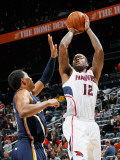 Indiana Pacers v Atlanta Hawks: Josh Powell and Danny Granger Photographic Print by Kevin Cox