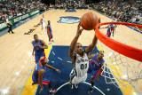 Detroit Pistons v Memphis Grizzlies: Darrell Arthur, Charlie Villanueva, Tracy McGrady and Greg Mon Photographic Print by Joe Murphy
