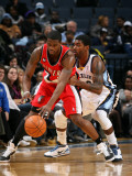 Portland Trail Blazers v Memphis Grizzlies: O.J. Mayo and Wesley Matthews Photographic Print by Joe Murphy