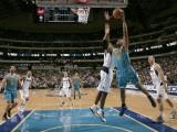 New Orleans Hornets v Dallas Mavericks: David West and Brendan Haywood Photographic Print by Danny Bollinger