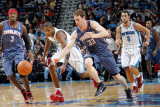 Charlotte Bobcats v New Orleans Hornets: Trevor Ariza and Matt Carroll Photographic Print by Layne Murdoch