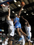 Tulsa 66ers v Texas Legends: Zabian Dowdell and Matt Rogers Photographic Print by Layne Murdoch