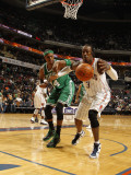 Boston Celtics v Charlotte Bobcats: Paul Pierce and Gerald Wallace Photographic Print by Kent Smith