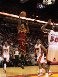 Cleveland Cavaliers  v Miami Heat: Daniel Gibson Photographic Print by Mike Ehrmann
