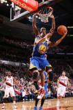 Golden State Warriors v Portland Trail Blazers: Dante Cunningham and Acie Law Photographic Print by Sam Forencich