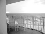 View of the Ocean from a Condo Balcony Photographic Print by Jodi Cobb