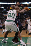Atlanta Hawks v Boston Celtics: Ray Allen and Jeff Teague Photographic Print by  Elsa