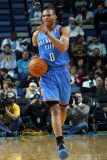 Oklahoma City Thunder v New Orleans Hornets: Russell Westbrook Photographic Print by Layne Murdoch