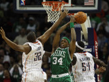 Boston Celtics v Charlotte Bobcats: Paul Pierce, Boris Diaw and Kwame Brown Photographic Print by Streeter Lecka