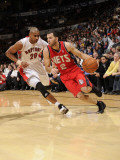 New Jersey Nets v Toronto Raptors: Jordan Farmar and Leandro Barbosa Photographic Print by Ron Turenne