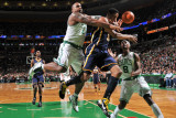Indiana Pacers v Boston Celtics: Glen Davis and Danny Granger Photographic Print by Brian Babineau