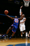 New York Knicks v Washington Wizards: Toney Douglas and John Wall Photographic Print by Ned Dishman