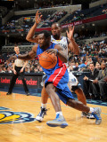 Detroit Pistons v Memphis Grizzlies: Will Bynum and Sam Young Photographic Print by Joe Murphy