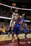 New York Knicks v Cleveland Cavaliers: Daniel Gibson and Wilson Chandler Photographic Print by David Liam Kyle