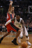 New Jersey Nets v Boston Celtics: Nate Robinson and Devin Harris Photographic Print by Elsa .