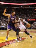 Phoenix Suns v Miami Heat: Dwyane Wade and Hedo Turkoglu Photographic Print by Mike Ehrmann