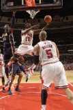 Indiana Pacers v Chicago Bulls: Ronnie Brewer, Carlos Boozer and Roy Hibbert Photographic Print by Ray Amati