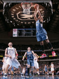 Minnesota Timberwolves v Dallas Mavericks: Wesley Johnson and Jason Kidd Photographic Print by Glenn James